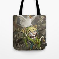 zelda Tote Bags featuring Zelda by Dave Armstrong