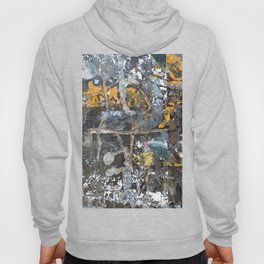 Fragmented Thoughts Abstract Painting on Metal Hoody