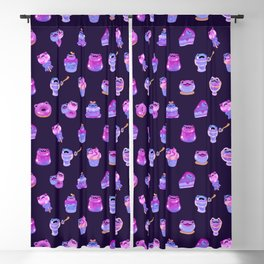 Blueberry frog Blackout Curtain