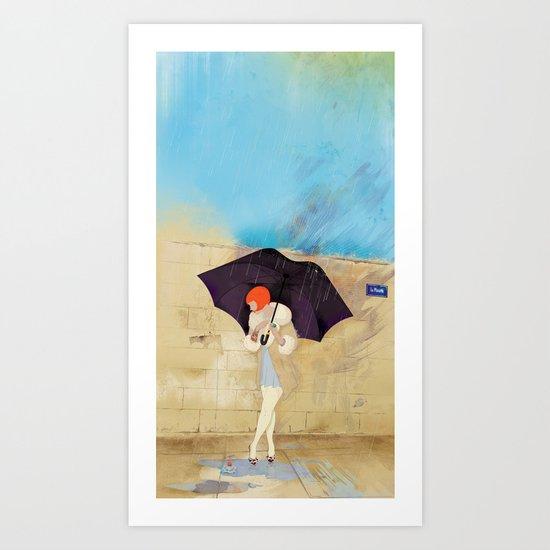 RAINY DAY FLOWER Art Print