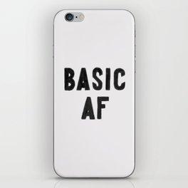 Basic AF iPhone Skin