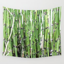 Green Bamboo Wall Tapestry