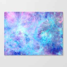 Bright Tarantula Nebula Aqua Lavender Periwinkle Canvas Print