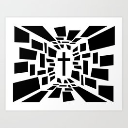 Christian Cross Art Print