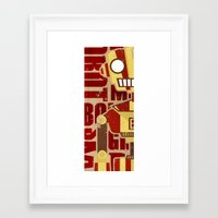 robot Framed Art Prints featuring Robot by LindseyCowley