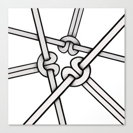knots tied Canvas Print