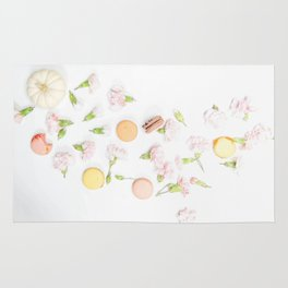 Macaroons and Flowers Rug