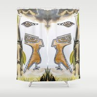 bleach Shower Curtains featuring See Nature by CrismanArt