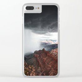 a storm in the grand canyon Clear iPhone Case