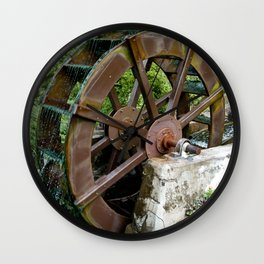 Water Wheel Wall Clock
