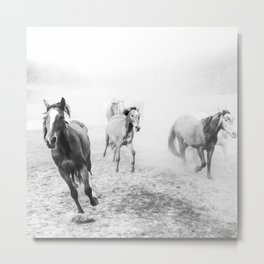 Running with the horses Metal Print