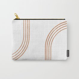 Mid Century Modern 1 - Geometrical Abstract - Minimal Print - Terracotta Abstract - Burnt Sienna Carry-All Pouch