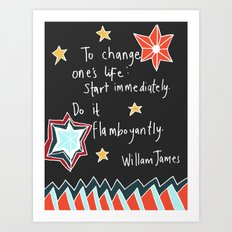 Flamboyantly  Art Print