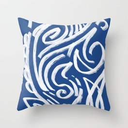 Cool Tribe of Water Abstract Pattern Throw Pillow