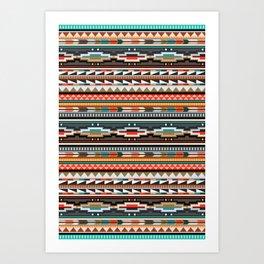 Textile Art Print