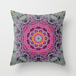 Kale mandala Throw Pillow