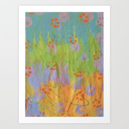 Green Scribble by Sharon Crumley Art Print