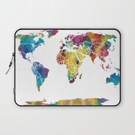 Geometric World Map Laptop Sleeve