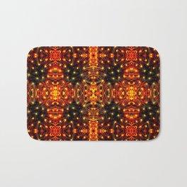 Red Yellow Sparkling Pattern Bath Mat