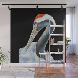 Red Crowned Crane Wall Mural