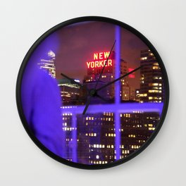 new yorker neon  Wall Clock