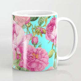 Vintage & Shabby Chic - Summery Rose Flowers Garden Pattern Coffee Mug