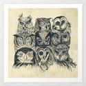 Nine Owls by thirstyfly