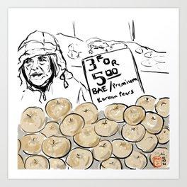 Korean Asian Pears For Sale at Farmers Market Art Print