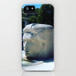 Stone head fountain, Nimes, France. iPhone Case