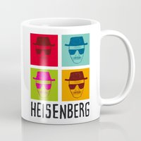 popart Mugs featuring Heisenberg Popart by Nxolab