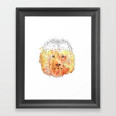 Watercolor Lion Framed Art Print
