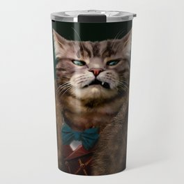 Arrogant sophisticated dressed cat boss looking with contempt Travel Mug
