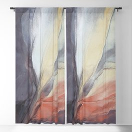 Copper Feather Blackout Curtain
