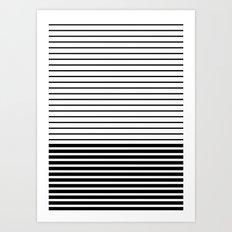 Lines - BW Art Print