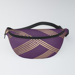 Art Deco Blurred Lines In Purple Fanny Pack