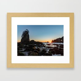 Sunburst at the Beach Framed Art Print