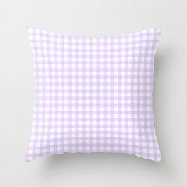 Lavender Gingham Throw Pillow