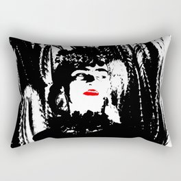 Freeda my Frida Black and White Rectangular Pillow