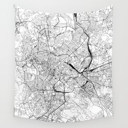 Rome White Map Wall Tapestry