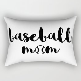 baseball mom Rectangular Pillow
