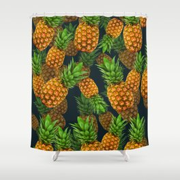Pineapple Party Shower Curtain