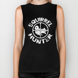 Squirrel Hunter Funny Hunting Squirrels Tee Hunt Biker Tank