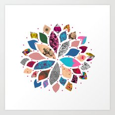 Cosmic Flower  Art Print