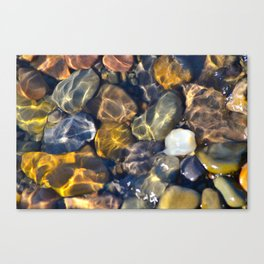 Lake Bed Stones Canvas Print