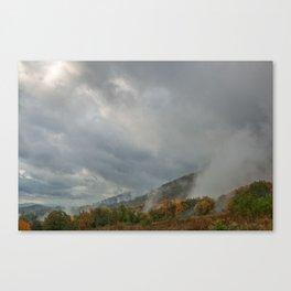 Dolly Sods Mountain Fog Canvas Print