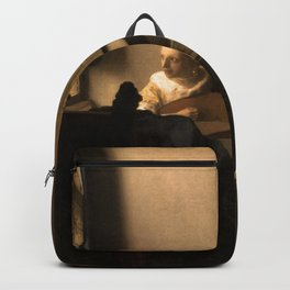"""Johannes Vermeer """"Woman with a Lute near a Window"""" Backpack"""