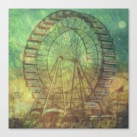 ferris wheel Canvas Prints featuring Ferris Wheel by Creative Vibe