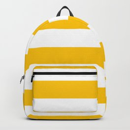 Aspen Gold Yellow and White Wide Horizontal Cabana Tent Stripe Backpack