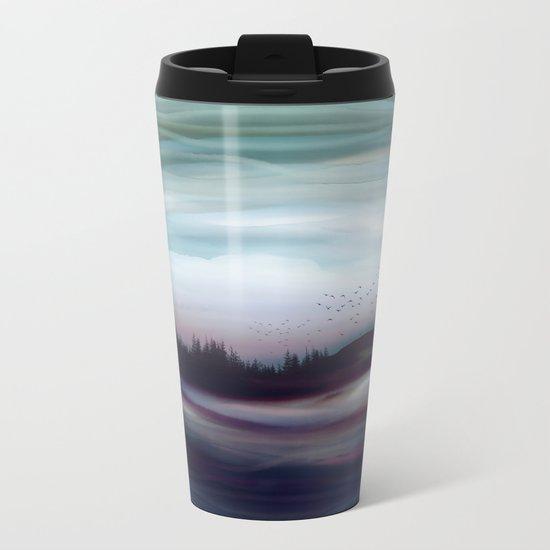Winter Dawn Metal Travel Mug