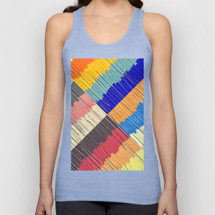 Cool Colors Collage Unisex Tank Top